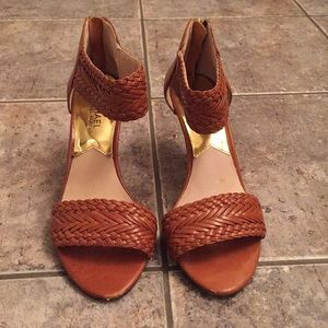 Michael Kors Leather Braided Sandals